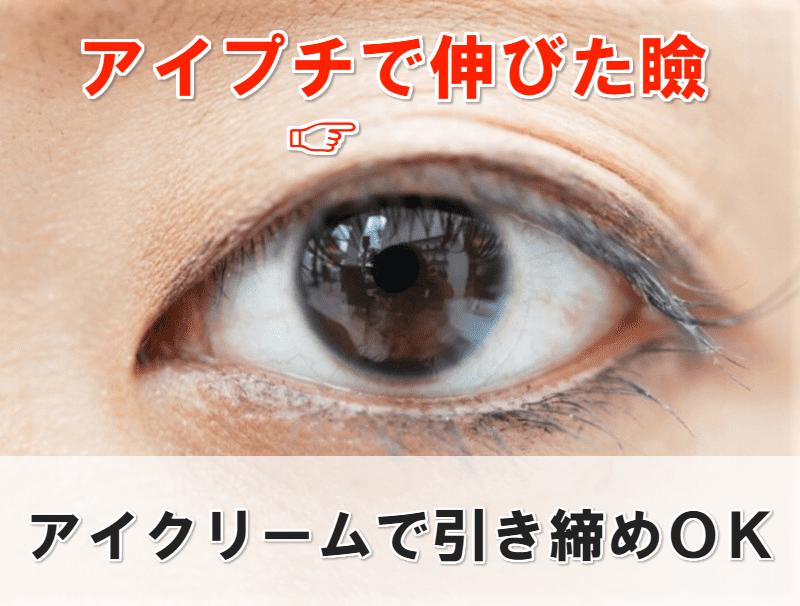 伸びた瞼 アイクリーム