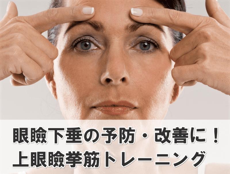 上眼瞼挙筋 トレーニング